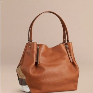 Brand New 100% Auth Burberry Satchel Brown Bag